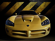 Mopar Metal Prints - Snake Crossing Metal Print by Douglas Pittman