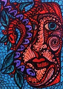 Mayan Mythology Prints - Snake Myth Print by Gerri Rowan