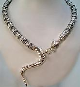 Animals Jewelry - Snake Necklace by Sholeh Mesbah