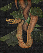 Enchanted Forest Paintings - Snake of No Kind by Karen-Lee