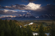 River. Clouds Posters - Snake River Overlook Poster by Andrew Soundarajan
