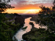Scenic Idaho Prints - Snake River Sunset Print by Leland Howard