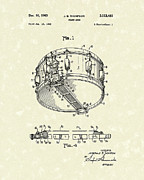 Marching Drawings - Snare Drum 1963 Patent Art by Prior Art Design