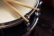Music Print Prints - Snare Drum and Sticks Art Print by Rebecca Brittain