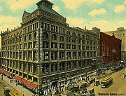 Philadelphia Pa Painting Posters - Snellenburgs Department Store In Philadelphia Pa Around 1910 Poster by Dwight Goss