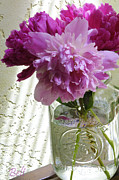 Floral Artist Posters - Snickerhaus Peonies in a Vase No.2 Poster by Christine Belt