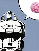 Hostess Prints - Sno Ball Robot - Xmen Sentinel Print by Ryan Jones