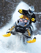 Snowmobile Framed Prints - Snocross Framed Print by Wade Aiken
