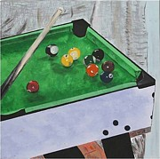 Karen Elzinga Paintings - Snooker 1 by Karen Elzinga