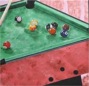 Karen Elzinga Paintings - Snooker 2 by Karen Elzinga