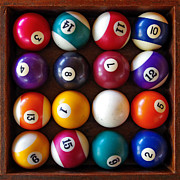 Black Top Photo Acrylic Prints - Snooker Balls Acrylic Print by Carlos Caetano