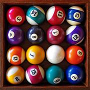 Snooker Balls Print by Carlos Caetano