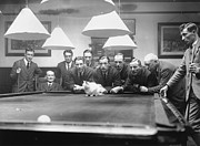 Animal Games Prints - Snooker Cat Print by MacGregor