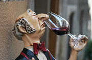 Connoisseur Posters - Snooty Wine Sniffer in Portugal Poster by Carl Purcell
