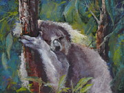 Koala Pastels - Snooze by Pamela Pretty