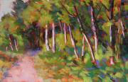 Woods Pastels - Snoqualmie Trail by Mary McInnis