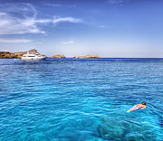 Mike Gorton - Snorkeling at Lindos...