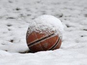 Basketball Art - Snow Ball by Al Powell Photography USA