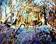 Snow Bank Print by Brian Simons