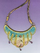Watercolor  Jewelry - Snow Birds by Gertrude Palmer