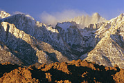Mount Whitney Posters - Snow Blows From Mount Whitney. The Poster by Phil Schermeister