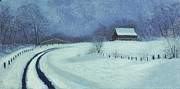 Barn Pastels Prints - Snow Bound Print by Garry McMichael