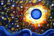 Silhouette Tree Prints - Snow Burst Cirlce of Life Painting MADART Print by Megan Duncanson