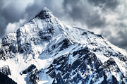 Mountain Scape Art - Snow Cap by David  Naman