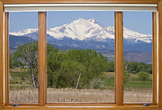 Colorado Nature Posters - Snow Capped Longs Peak Picture Window View Poster by James Bo Insogna