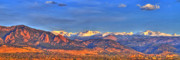 Flatirons Posters - Snow-capped Panorama of The Rockies Poster by Scott Mahon