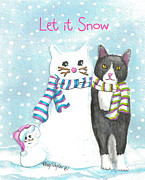 Snow Cats Print by Terry Taylor
