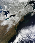 Northeastern Photos - Snow Cover Stretching From Canada by Stocktrek Images