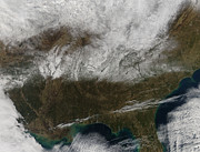 Snowstorm Photos - Snow Cover Stretching From Northeastern by Stocktrek Images