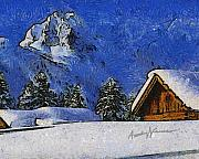 Chalet Posters - Snow Covered Poster by Anthony Caruso