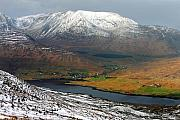Connemara Photos - Snow covered mountains of Connemara Ireland by Pierre Leclerc