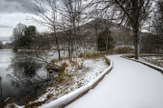 Abbott  Photos - Snow Covered Pathway 2 by Steve Hurt