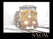 Snow Scene Art - Snow by Daniel Troy