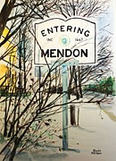 Mendon Ma Prints - Snow Day Print by Scott Nelson