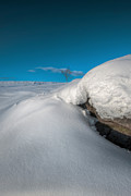 Moorland Framed Prints - Snow Drift on Stanage Edge Framed Print by Andy Astbury