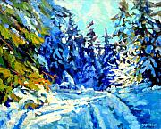 Tree Paintings - Snow Drive 3 by Brian Simons