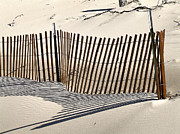 Snow Fence Shadows Print by Richard Gregurich