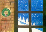 Lalhmunlien Varte - snow in Christmas window