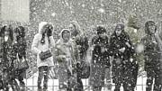 Snow In City Print by Yury Bashkin