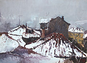 Ne Framed Prints - Snow in Elbasan Framed Print by Ylli Haruni