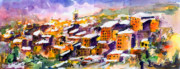 South Of France Posters - Snow in the South of France Poster by Ginette Fine Art LLC Ginette Callaway