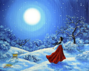 Zenbreeze Paintings - Snow Like Stars by Laura Iverson