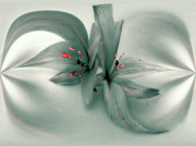 Photo-realism Digital Art - Snow Lilies by Irma BACKELANT