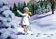 Storybook Paintings - Snow Maiden by Valerian Ruppert