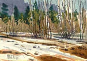 Yosemite Painting Prints - Snow Melt Print by Donald Maier
