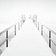 Cold Temperature Art - Snow On A Pier by Andreas Levers